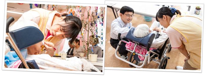 看護師24時間待機、介護事業所併設の充実下サポート体制